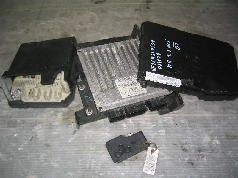 Megane II  02-08 | sestava řídících jednotek + karta pro 1,5dCi